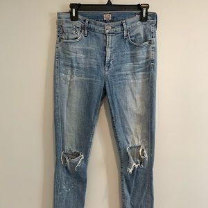 Citizens of Humanity Rocket Crop Fizzle size 27